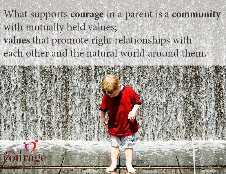What supports courage in a parent is community. | theactsofcourage.com