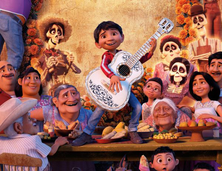 A scene from the movie Coco