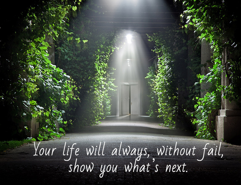 Your life will always show you what's next.